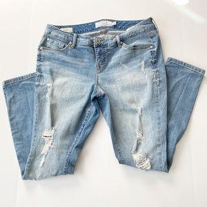 EUC 12R Torrid distressed skinny jeans